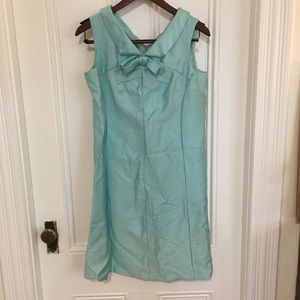 Vintage 1960s Blue Tank Dress w / bow detail